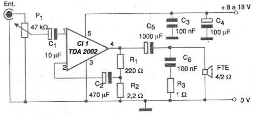 Figura 5 - Diagrama completo do amplificador multimídia.