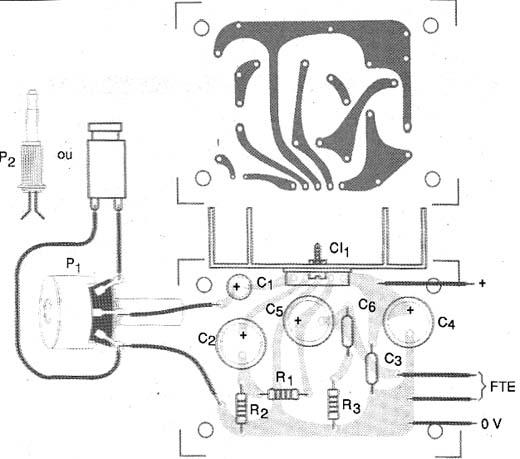 Figura 7 - Placa de circuito impresso para o amplificador.