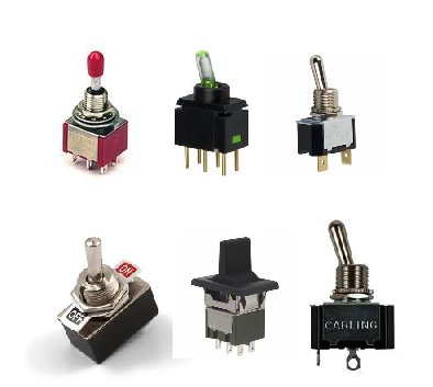 Figura 33 – Exemplos de dip-switches