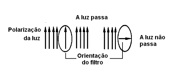 A ação do polarizador