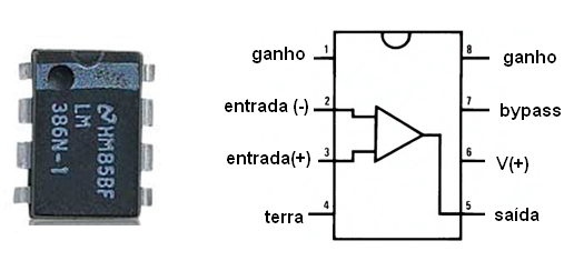 O amplificador integrado LM386
