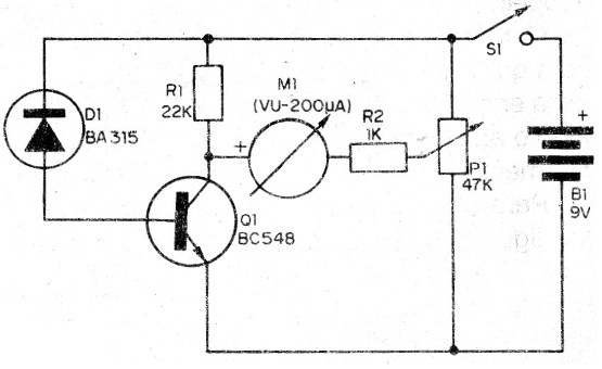 Figura 1 – Diagrama do detector de escape de calor