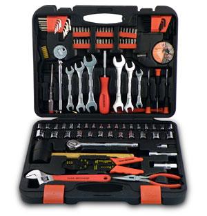 Kit comum de ferramentas.