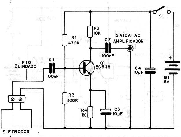 Figura 7 – Pré-amplificador para o sensor