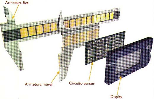 Circuito acoplado na armadura móvel.